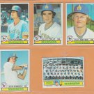 1979 Topps Seattle Mariners Team Lot 11 Tom Paciorek Julio Cruz Dan Meyer Team Card