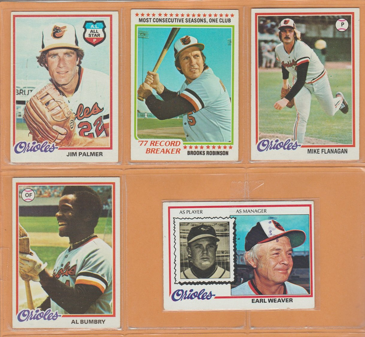 1978 Topps Baltimore Orioles Team Lot 26 Eddie Murray rookie Brooks Robinson Jim Palmer Earl Weaver