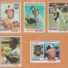1978 Topps Baltimore Orioles Team Lot 26 Eddie Murray rookie Brooks Robinson Jim Palmer Earl Weaver
