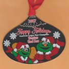 2017 Boston Red Sox Team Issued Limited Edition Christmas Ornament Wally the Green Monster & Tessie