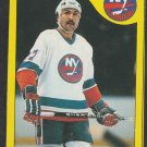 New York Islanders John Tonelli 1985 Topps Wax Box Bottom Hockey Card # O