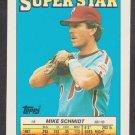 Philadelphia Phillies Mike Schmidt 1988 Topps Super Star Baseball Card 8 nr mt Minnesota Twins