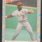 St Louis Cardinals Terry Pendleton 1988 Fleer Star Sticker Baseball Card 119 nr mt
