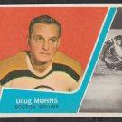 Boston Bruins Doug Mohns w/ New York Rangers Gump Worsely 1963 Topps Hockey Card 3 em/nm