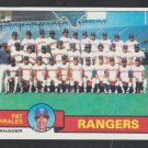 Texas Rangers Team Card 1979 Topps Baseball Card 499 ex lightly marked checklist