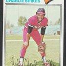 Cleveland Indians Charlie Spikes 1977 Topps Baseball Card 168 ex/em