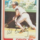 Baltimore Orioles Al Bumbry 1982 Topps Baseball Card 265 nr mt