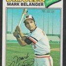 Baltimore Orioles Mark Belanger 1977 Topps Baseball Card 135 ex