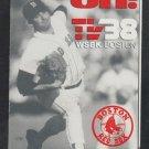 1987 Boston Red Sox Pocket Schedule Bruce Hurst Pitching TV 38 Budweiser