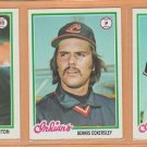 1978 Topps Cleveland Indians Team Lot 20 Dennis Eckersley Andre Thornton Duane Kuiper Bruce Bochte