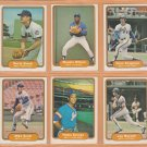 1982 Fleer New York Mets Team Lot 26 Mookie Wilson Lee Mazzilli Rusty Staub Dave Kingman