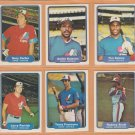 1982 Fleer Montreal Expos Team Lot 28 Gary Carter Andre Dawson Tim Raines Terry Francona RC
