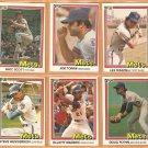 1981-1984 Donruss New York Mets Team Lot 30 Joe Torre Lee Mazzilli Mike Scott Rusty Staub
