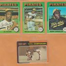 1975 Topps Pittsburgh Pirates Team Lot 14 Willie Stargell Al Oliver Manny Sanguillen Bruce Kison +