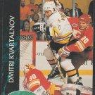 Boston Bruins Dmitri Kvartalnov Rookie Card RC 1992 Parkhurst Hockey Card 7