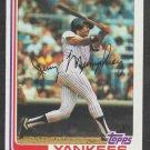 New York Yankees Jerry Mumphrey 1982 Topps Baseball Card 175 nr mt