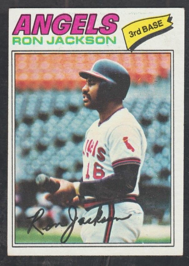 California Angels Ron Jackson Rookie Card RC 1977 Topps Baseball Card 153 ex/ex mt