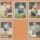 1987 Topps OPC Boston Bruins Team Lot 18 Cam Neely Rick Middleton Steve Kasper O Pee Chee