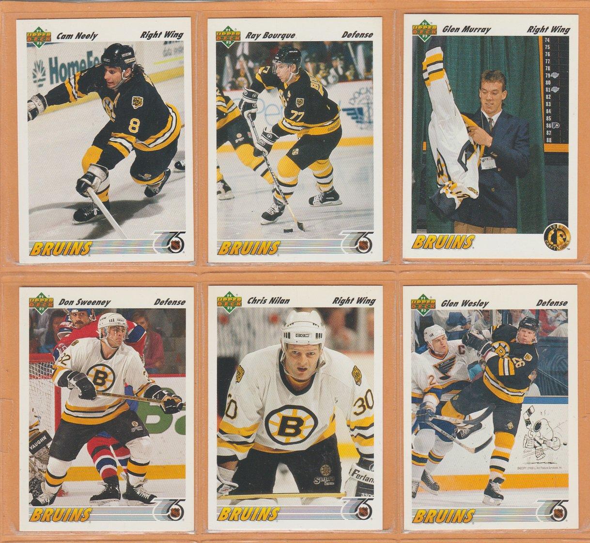 1991 Upper Deck Boston Bruins Team Set 23 Ray Bourque Cam