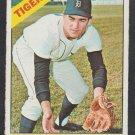 Detroit Tigers Dick McAuliffe 1966 Topps Baseball Card 495 vg