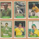 1982 Fleer Oakland Athletics Team Lot 25 Rickey Henderson Tony Armas Wayne Gross Dwayne Murphy