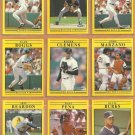 1991 Fleer Boston Red Sox Team Lot Roger Clemens Wade Boggs Dwight Evans Ellis Burks Tony Pena