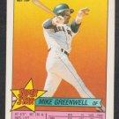 Boston Red Sox Mike Greenwell 16 Texas Rangers Pete Incaviglia 249 1989 Topps Super Star Sticker