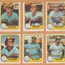 1981 Fleer Milwaukee Brewers Team Set 23 Robin Yount Paul Molitor Gorman Thomas Sal Bando