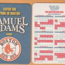 Lot of 10 Sam Adams Beer Boston Red Sox 2003 Cardboard Coaster Schedules