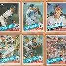1985 Topps Los Angeles Dodgers Team Lot 16 Fernando Valenzuela Mike Scioscia Tom LaSorda Bob Welch
