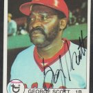 Boston Red Sox George Scott (deceased) Autograph Signed 1979 Topps Baseball Card # 645