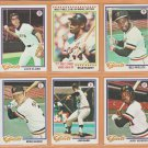 1978 Topps San Francisco Giants Team Lot Set 23 Willie McCovey Jack Clark Bill Madlock Gary LaVelle
