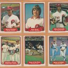 1982 Fleer Philadelphia Phillies Team Lot Set Pete Rose Mike Schmidt Steve Carlton Tug McGraw
