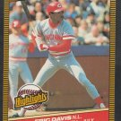 Cincinnati Reds Eric Davis w/ Pete Rose 1986 Donruss Highlights 30 Player of the Month nm