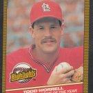 St Louis Cardinals Todd Worrell 1986 Donruss Highlights 54 Donruss NL Rookie of the Year