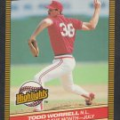 St Louis Cardinals Todd Worrell 1986 Donruss Highlights 29 Pitcher of the Month nm