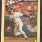 Boston Red Sox Dwight Evans 1986 World Series Game 2 1987 Topps Collectors Series 21
