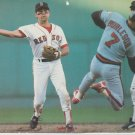 Boston Red Sox Spike Owen Turning 2 vs Anahiem Angels 1987 Pinup Photo 8x10