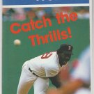 Boston Red Sox 1989 Pocket Schedule Lee Smith Catch The Thrills