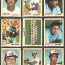 1978 Topps Montreal Expos Team Lot Set 24 Gary Carter Tony Perez Warren Cromartie RC