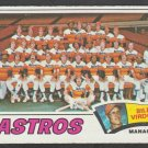 Houston Astros Team Card 1977 Topps Baseball Card 327 ex unmarked checklist
