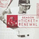 Boston Red Sox 2018 Season Ticket Holder Renewal Folio Mookie Betts Cover Photo