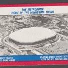 1988 Fleer Sticker Card Minnesota Twins Metrodome Oakland Athletics Houston Astros Stickers