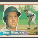 Boston Red Sox Rich Gedman 1988 Topps Big Baseball Card 152 nr mt