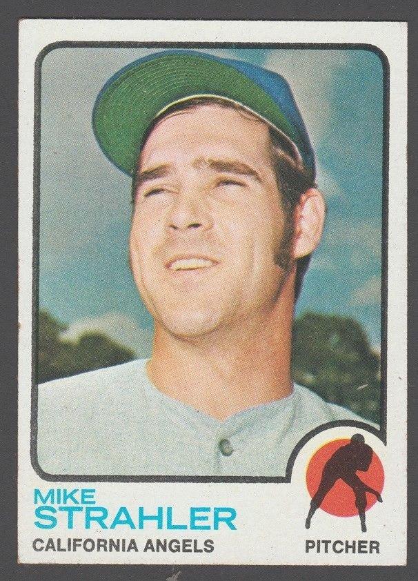 California Angels Mike Strahler 1973 Topps Baseball Card 279 ex/em