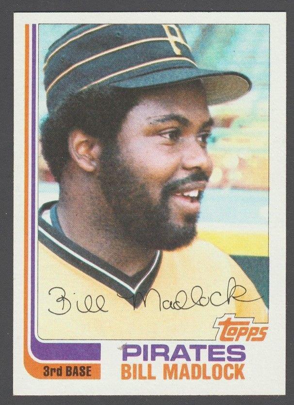 Pittsburgh Pirates Bill Madlock 1982 Topps Baseball Card 365 nr mt