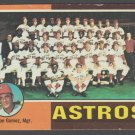 Houston Astros Team Card 1975 Topps Baseball Card 487 g/vg