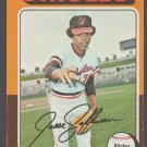 Baltimore Orioles Jesse Jefferson 1975 Topps Baseball Card 539 ex
