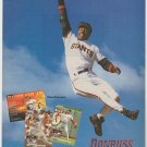 San Francisco Giants Barry Bonds 1995 Pinup Photo From Donruss Baseball Card Ad 8x10