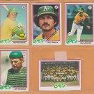 1978 Topps Oakland Athletics Team Lot 22 Tony Armas Manny Sanguillen Mike Norris Wayne Gross